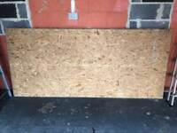 4x 8ft wood chip boards. Alas new suitable for boxing or loft flooring.