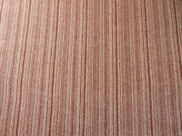 Carpet, red and beige stripe, 15.5ft x 6ft