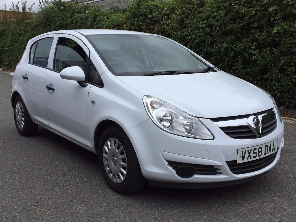 2008 vauxhall corsa 1 3 cdti diesel manual white 5 door hatchback excellent drive mot not astra. Black Bedroom Furniture Sets. Home Design Ideas