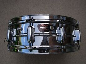 "Drouyn S-100 Prof series alloy snare drum 14 x 5 1/2"" - Australia - Circa '65 - rare in Europe"