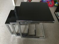 3 mini living room glass tables