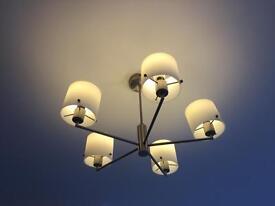 2 ceiling light fittings