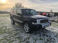 56 REG JEEP COMMANDER 3.0 CRD V6 LIMITED-AUTOMATIC 7 SEATS-12 MONTH MOT-HEATED LEATHER-ENTERTAINMENT