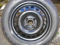 "VAUXHALL ASTRA 15"" 4-STUD WHEEL AND DUNLOP SP SPORT TYRE"