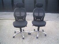 ERGO black Mesh Executive High Back Lumbar Office Swivel Computer Chair with headrest