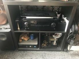 Black tv stand excellent condition
