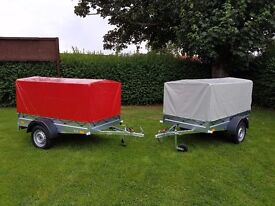 NEW Car trailers 6' x 4' 1,2 WITH COVER FIX PRICE £500 inc vat certificate for left-hand traffic