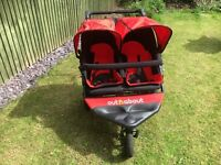 Out N About Nipper V4 Double Pushchair- Carnival Red