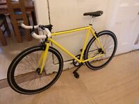 Quella One Fixie, Single Track, Fixed Wheel Bike, Yellow, 54cm Frame