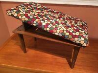 Vintage 1960's 'Comfie' footstool, adjustable. Rare & Collectable