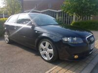 2005 55 REG AUDI A3 3.2 V6 QUATTRO S LINE SPORT, DSG, 3 DOOR, FACE LIFT MODEL...