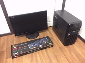 Gaming Computer PC Complete Setup with Monitor (Intel Quad Core, 4GB RAM, 250GB HD, GT 740 Graphics)