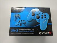 Playstation 3 / 4 PS4 PS3 Red or Blue Wired Controllers - NEEW