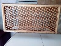 Cane Coffee table with wicker top. Little wear and tear. Collection from Solihull