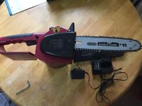 Chainsaw rechargeable used