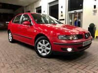 2005 05 SEAT LEON 1.9 TDI DIESEL 2 OWNERS FROM NEW BEAUTIFUL CONDITION FULL SERVICE HISTORY 90 BHP