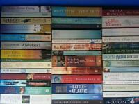 Job lot of books mainly fiction.