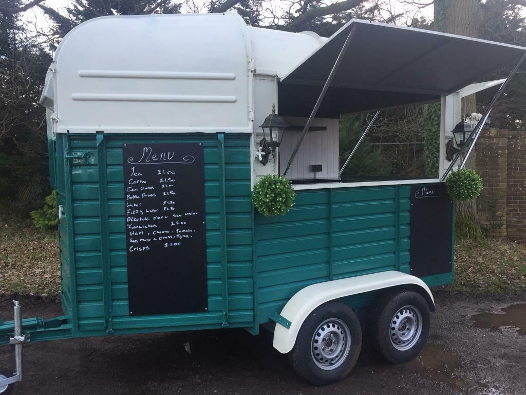 Rustic Vintage rice horse box catering trailer conversion