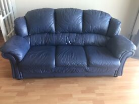 Leather sofa 3 and 2 seater for sale