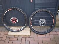 "26"" Sunringle Ryde XMB Mountain Bike Wheels and Tyres - Lightly Used"