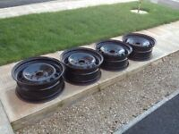 17' BMW Steel wheel set (4x), for winter, summer and all weather tyres or spare set