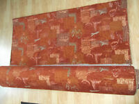 Quality Chenille Terracotta Fabric for Caravan or Home Seating Upholstery