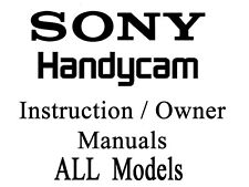 Sony Handycam User Guide Instruction Manual All Models of