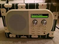 DAB Pure Evoke Mio digital radio - Orla Kiely abacus print