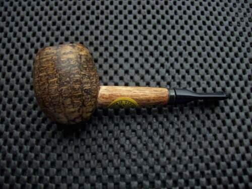 Missouri Meerschaum Corn Cob Pipe Little Devil Acorn Black Stem