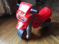 Disney CARS 2 - Ride on motorbike for toddlers