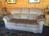 3 Seater Settee and Armchair . Good Condition Foam Seats