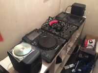2x Pioneer cdj 2000 turntable decks & djm 900 nexus mixer.