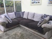 Harvey's grey corner sofa