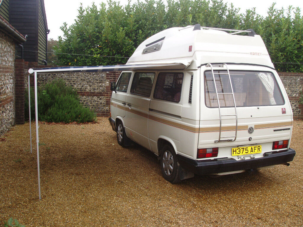 VW T25 Hi Top Autohomes Campervan Petrol LPG With Awning Bike Rack And Tow