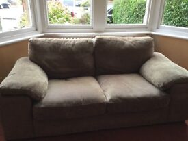 Clarissa 2 Seater and 3 Seater Sofas Light Brown