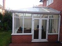 Large UPVC Double Glazed Conservatory - For Sale 12.8 Feet - 12.6 Feet
