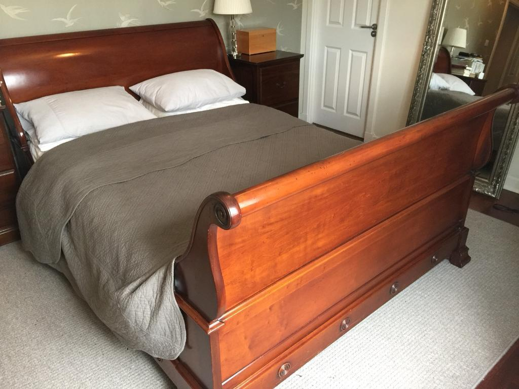 And So To Bed King Size Chamonix Sleigh Bed Frame In