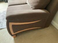 2 seater sofa retro in brown