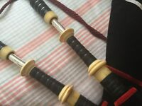 Wallace/Liddell Bagpipes Full Ivory