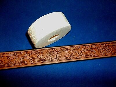 "Sheridan Style Floral Leather Emboss Roll High Impact Poly 1 1/4"" Wide"