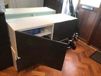 IKEA TV Shelf Unit with Doors and Drawers (2)