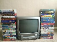 TV & INBUILT VCR WITH 32 VIDEOS PLEASE READ BELOW