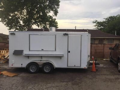 2016 Cargo Mate E-series 7.5 X 16 Kitchen Trailer With 2007 Dodge Ram 1500 For