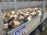 Hardwood Logs, Oak,Beech,Ash,Elm, £100, Load approx same as 3 dumpy bags trailer 10 feet x 5.5 feet.