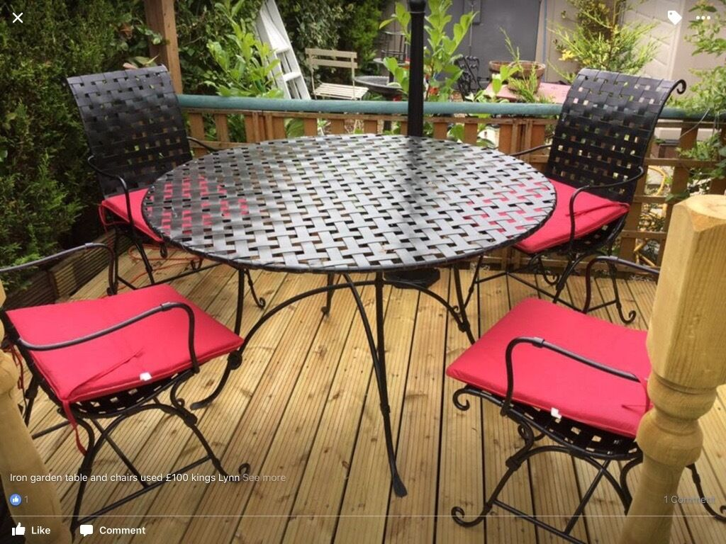 iron garden table and chairs - Garden Furniture Kings Lynn