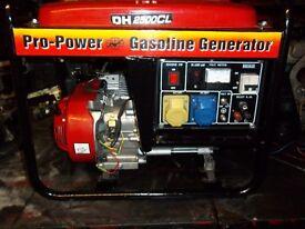 2.3kw PROPOWER 4 STROKE PETROL GENERATOR WITH LOW OIL AUTOMATIC SHUTDOWN