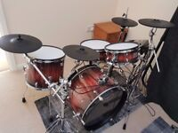 Jobeky electronic kit with roland module and cymbals