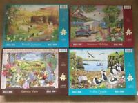4 Extra Large 500 Piece Jigsaw Puzzles