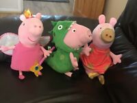 3 official pepper pig soft toys