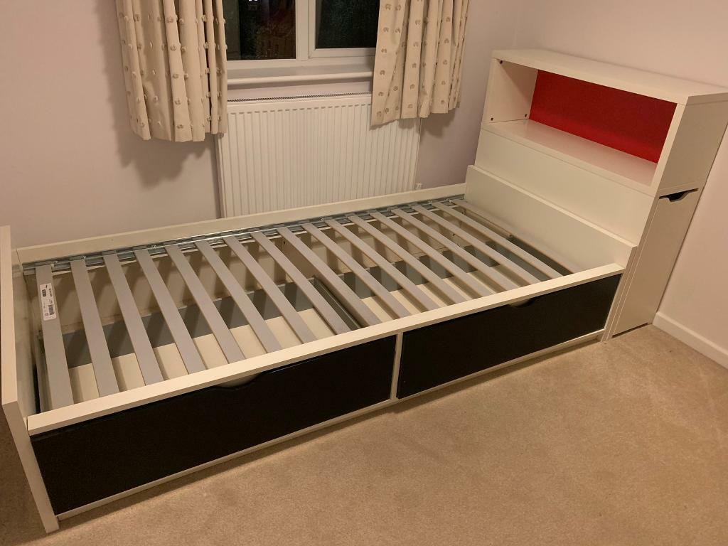 sale retailer 69338 dcce0 SOLD SUBJECT TO COLLECTION Single bed with storage headboard and under bed  drawers   in Twyford, Berkshire   Gumtree